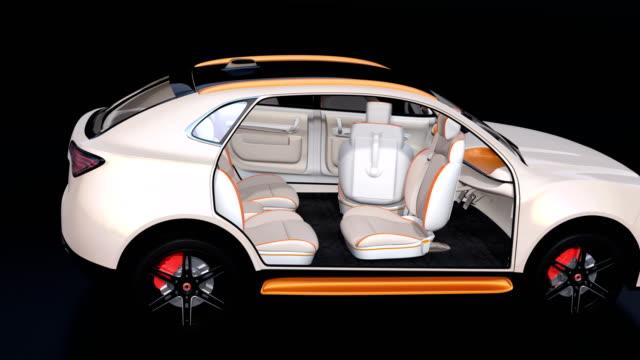 電気動力を与えられた suv の 3 d アニメーション - 自動運転車点の映像素材/bロール