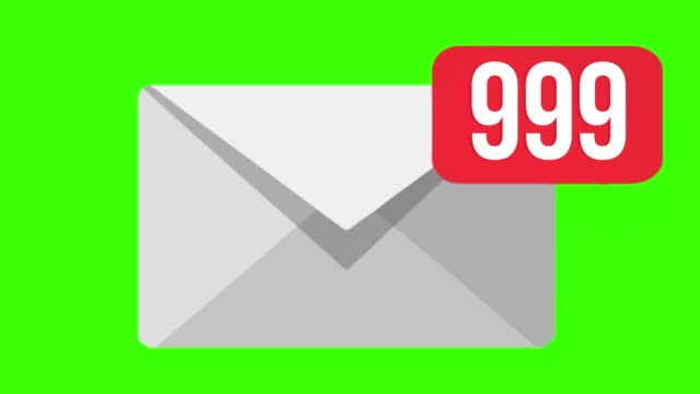 Animation of Email envelope with auto counting number. Green screen, 4K Animation of Email envelope with auto counting number. Green screen, 4K. email icon stock videos & royalty-free footage