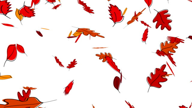 Animation of falling autumn leaves Animation of falling autumn leaves fall leaves stock videos & royalty-free footage