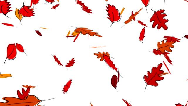 vídeos y material grabado en eventos de stock de animación de otoño caen las hojas - fall leaves