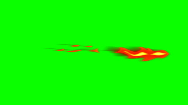 Animation of Fire Burning - Cartoon Fire - Green Box - Infinite Loop video
