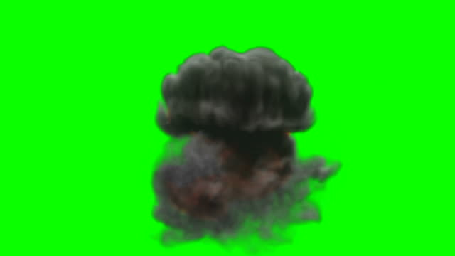 Animation of Fire Burning - Cartoon Fire - Green Box - Infinite Loop