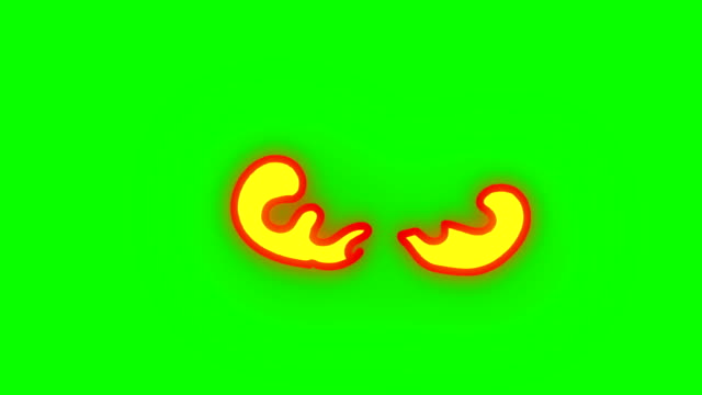 Animation of Fire Burning - Cartoon Fire - Green Box - Infinite Loop