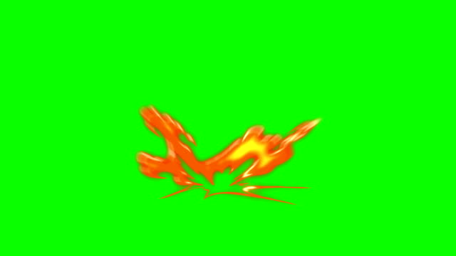 Animation of Fire Burning - Cartoon Fire - Overlay Alpha Channel - Infinite Loop