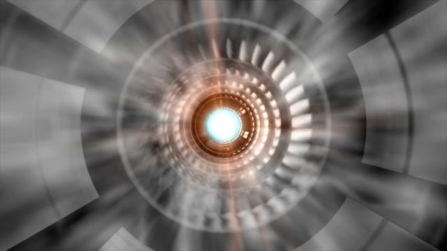 Animation of gas turbine Inside.