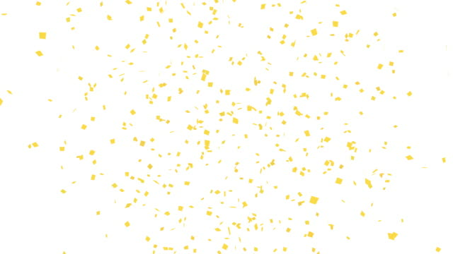 Animation of gold confetti explosion. 4K white background. Animation of gold confetti explosion. 4K white background. congratulating stock videos & royalty-free footage