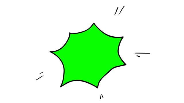 Animation of hand drawn comic style speech bubble