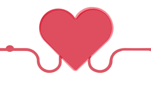 Animation of heart invitation for blood donation. concept of helping others. Blood transfusion hand to hand.