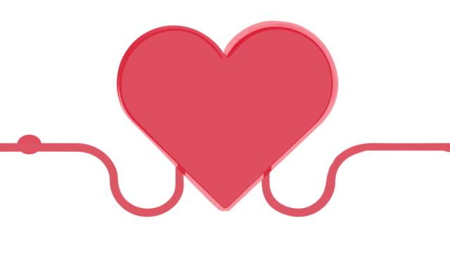 stockvideo's en b-roll-footage met animatie van hartuitnodiging voor bloeddonatie. concept van het helpen van anderen. bloedtransfusie van hand tot hand. - menselijk hart