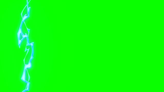 vídeos de stock e filmes b-roll de animation of lightening cartoon green box overlay alpha channel - infinite loop - storm effects