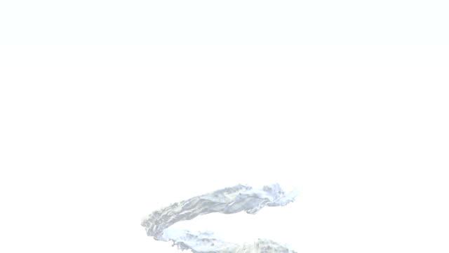 3D Animation of Milk Splash, against white