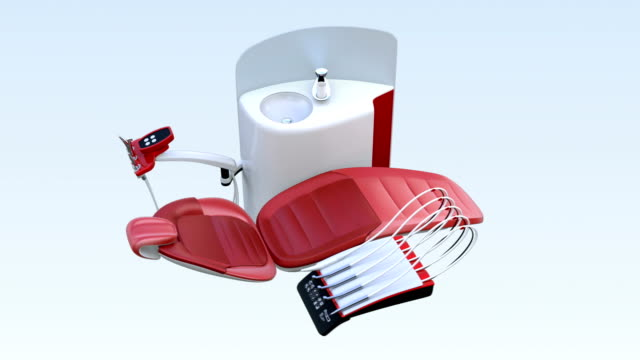 現代の歯科用機器の 3 d アニメーション - 歯科点の映像素材/bロール