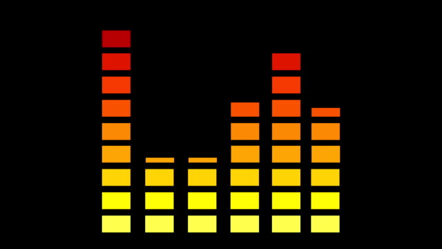 animation of music graphic equalizers black background video