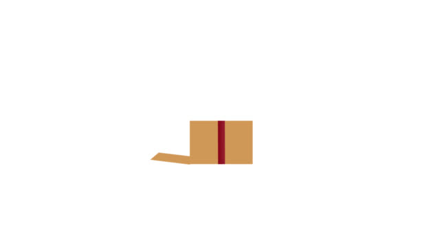 상자를 여는 애니메이션 - ribbon 스톡 비디오 및 b-롤 화면