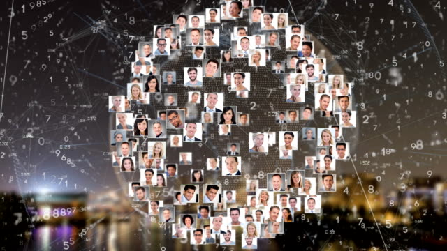 Animation of photos of people spinning around