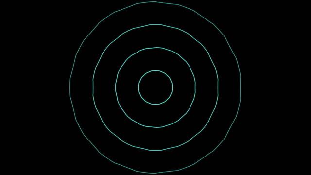 Animation of radio wave, radar or sonar video