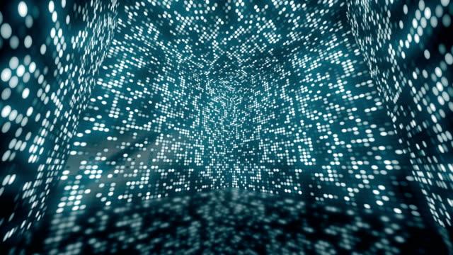 animering av rotation magiska och färgglada låda med glitter och flimmer prickar på väggar. animering av sömlös loop. - dansbana bildbanksvideor och videomaterial från bakom kulisserna