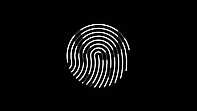 animation der fingerabdruck scannen - zahlentastatur stock-videos und b-roll-filmmaterial
