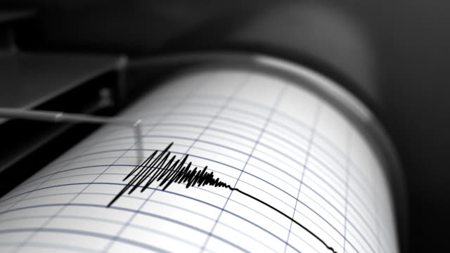 Animation of Seismograph Animation of Earthquake - 3D Rendering earthquake stock videos & royalty-free footage