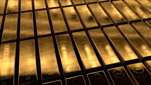Animation of Sliding Gold Bars (Loopable) Gold Ingot gold bars stock videos & royalty-free footage