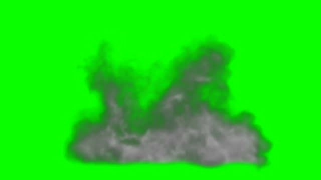 Animation of Smoke Green Box Alpha Channel - Infinite Loop