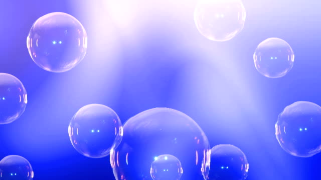 Animation of soap bubbles video