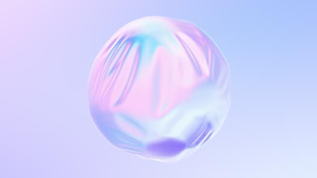 animazione 3d di sfere all'interno della forma liquida. - elemento del design video stock e b–roll