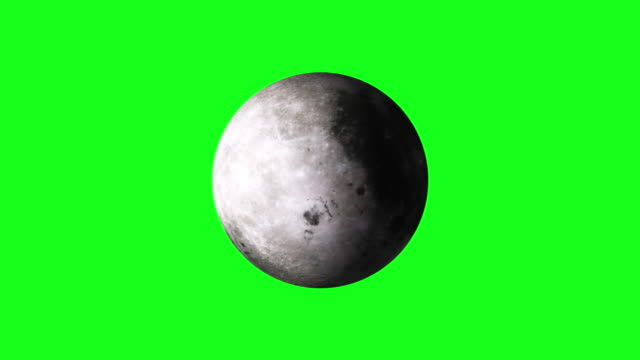 4k animation of spinning moon on green screen bg - księżyc filmów i materiałów b-roll