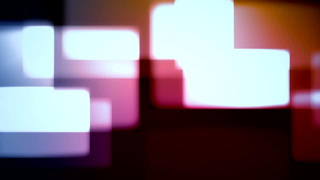 animation der quadrate formen hintergrund schleife - rechteck stock-videos und b-roll-filmmaterial