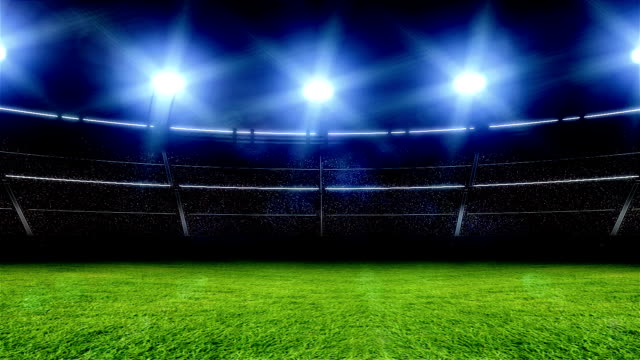 Animation of stadium with lights and flashes video