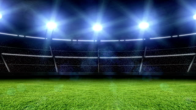 Animación de un estadio con luces y parpadea - vídeo