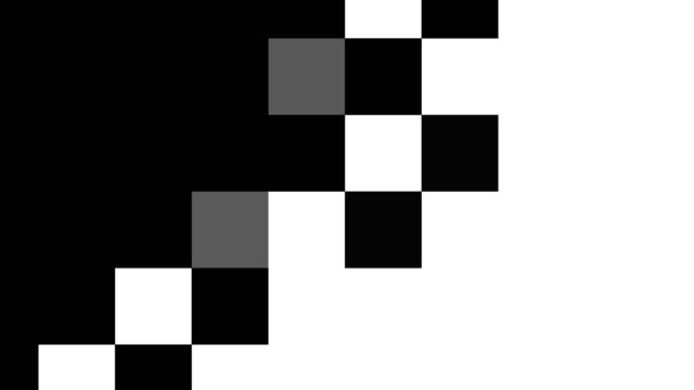 animation der oberflächentransformation vom schwarzen hintergrund zum weißen stockvideo - quadratisch zweidimensionale form stock-videos und b-roll-filmmaterial