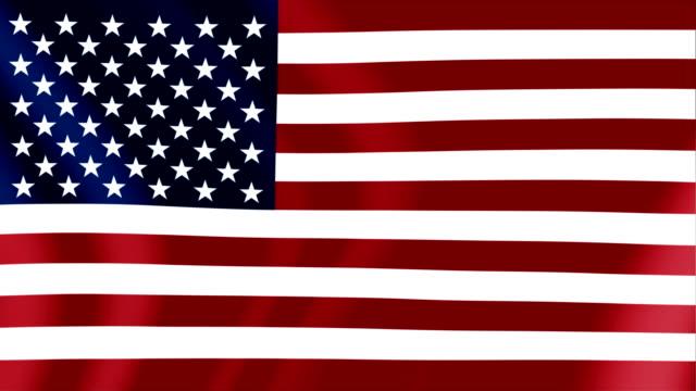 animation of the flag of the united states of america - insygnia filmów i materiałów b-roll