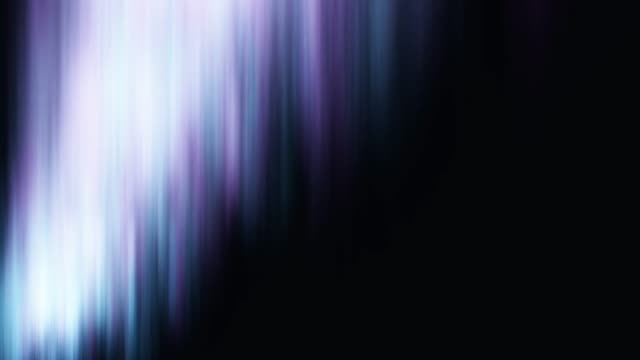 Animation of the northern lights on a black background. Space and aurora borealis video