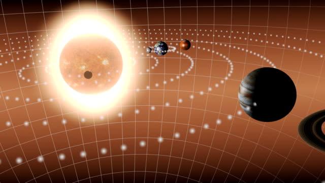 animacja na układ słoneczny - jowisz filmów i materiałów b-roll