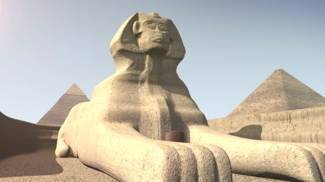 Animation of the sphinx in Egypt video