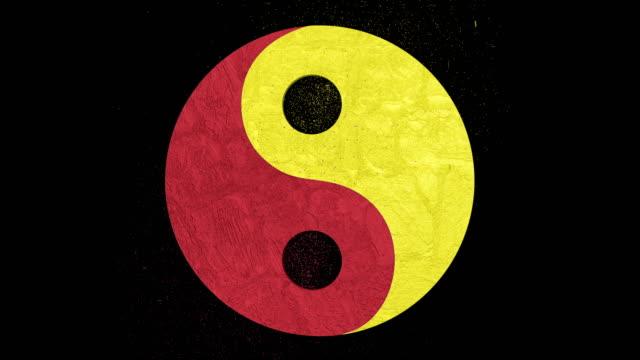 3d animation of the stylish balance (yin yang) symbol with mars and venus signs. alpha channel included - venus filmów i materiałów b-roll