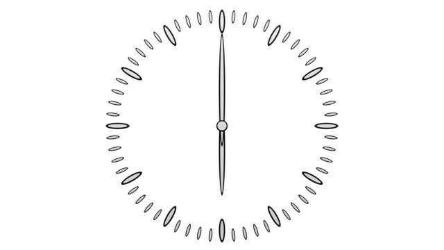 Animation of timelapse of clock face. video