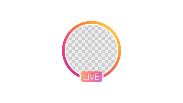stockvideo's en b-roll-footage met animatie van video live stream close up livestream animatie social media verhaal. 4k video - youtube