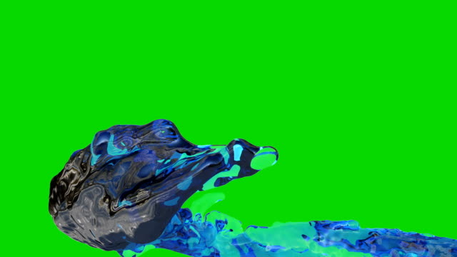 3D Animation of Water Flow in Slow Motion, Green Screen 3D Animation of Water Flow in Slow Motion, Green Screen alpha channel stock videos & royalty-free footage