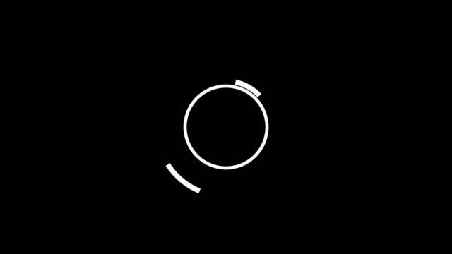 黑色後背白圓的動畫,扁平樣式 - 商標 個影片檔及 b 捲影像