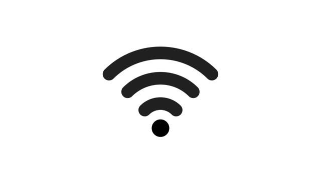 vidéos et rushes de animation de wi fi. icône wifi sur fond blanc 4k vidéo - communication sans fil