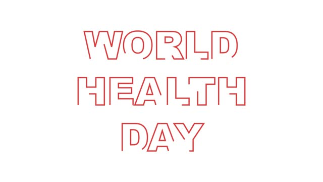 animation of words for the International Health Day animation of words for the International Health Day world health day stock videos & royalty-free footage