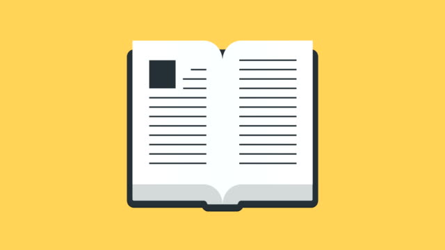 Open Book Icon Stock Videos and Royalty-Free Footage - iStock