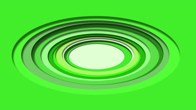 Animation Paper cut background - Green abstract wave shapes
