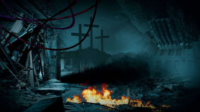 animation - Post apocalyptic scene video