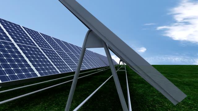 animation presenting a 3d photovoltaic field - rådig bildbanksvideor och videomaterial från bakom kulisserna