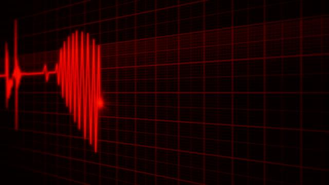 vídeos de stock e filmes b-roll de 3d animation red heart monitor of a man in love - imagem pulsante