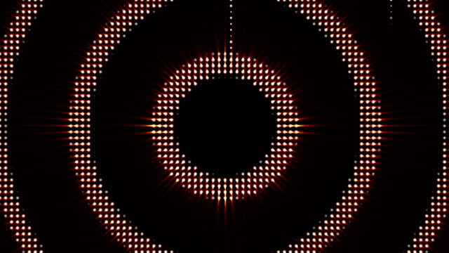 CIRCLES LIGHTS BULB, Animation, Rendering, Background, Loop video