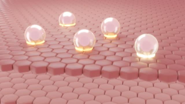 Animation serum through the skin layer.